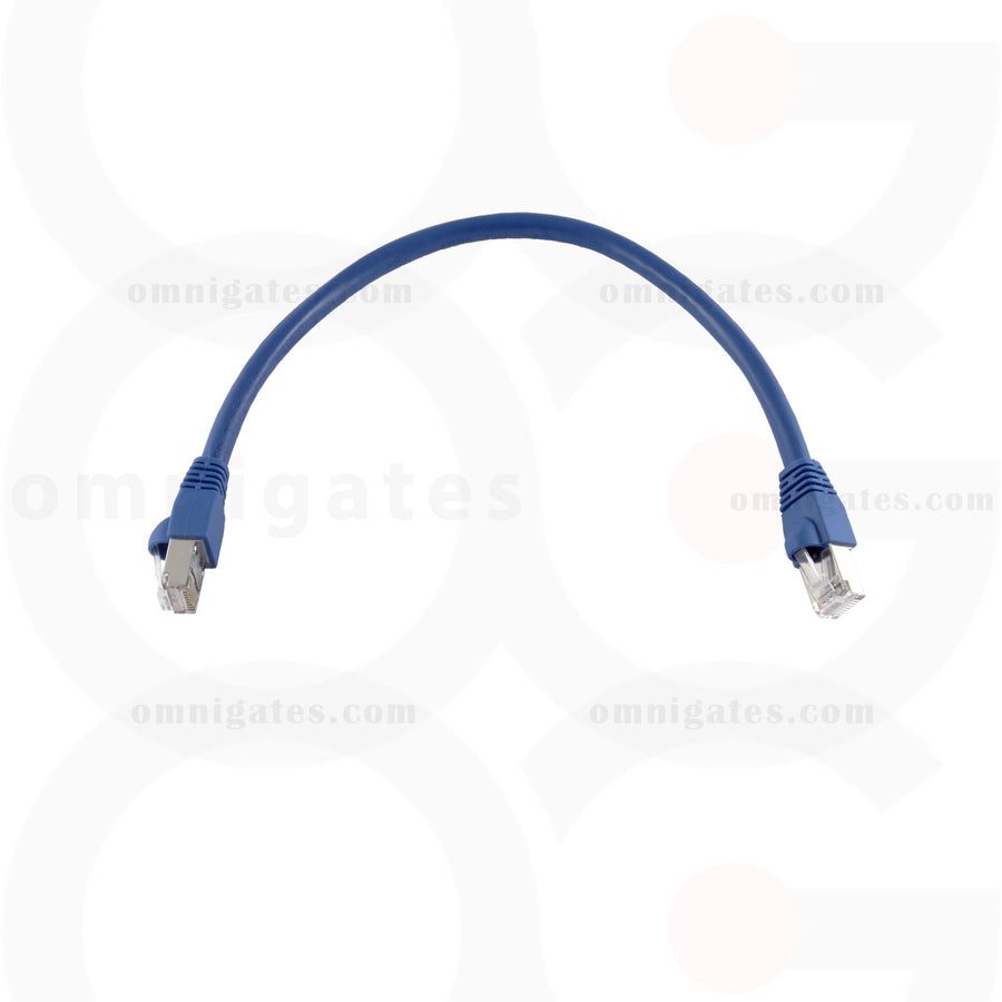 Blue RJ45 CAT 6A Ethernet Network Patch Cable Gold Plated STP