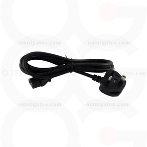 Black 6 feet England Power Cord  England-Plug 90 Degree to C13, H05VV-F/0.75mm/3C with Fuse, Black