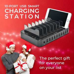 Omnigates Mach 10-Port USB Smart Charging Station w. Smart IC