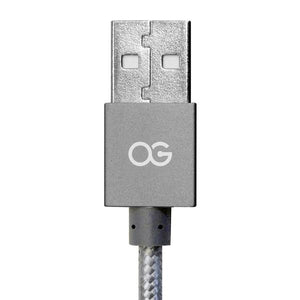 gray Premium High Speed USB A To Micro-5pin Sync/Charging Cable Metallic
