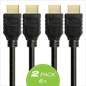 Omnigates High Speed HDMI Cable with Ethernet, 6ft Multi-Pack