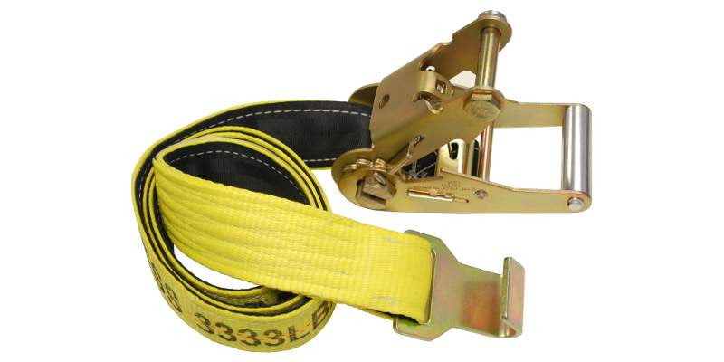 2''x 5' Underlift Tie Down Strap w/ Protection Sleeve Flat Hook