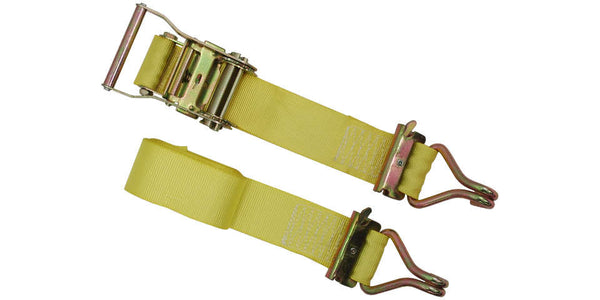 "2""x12' Ratchet E Track Straps E Fitting with Wire Hook"