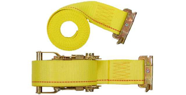 "2""x12' Ratchet E Track Straps E Fitting"