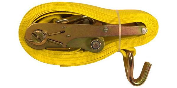 "4""x30' Ratchet Strap Tie Down Double J Hooks"