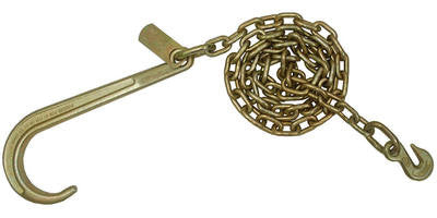 5/16''x 10' J Hook Tow Chain with Grab Hook End