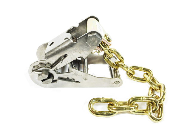 2'' Stainless Steel Standard Ratchet Buckle with Chain