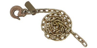 5/16''x 12' Auto Transport Tow Chain with Heavy Duty Latched Sling Hook