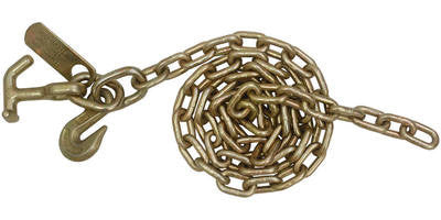 5/16'' x 8' Auto Transport Tow Chain T-J & Grab Hook