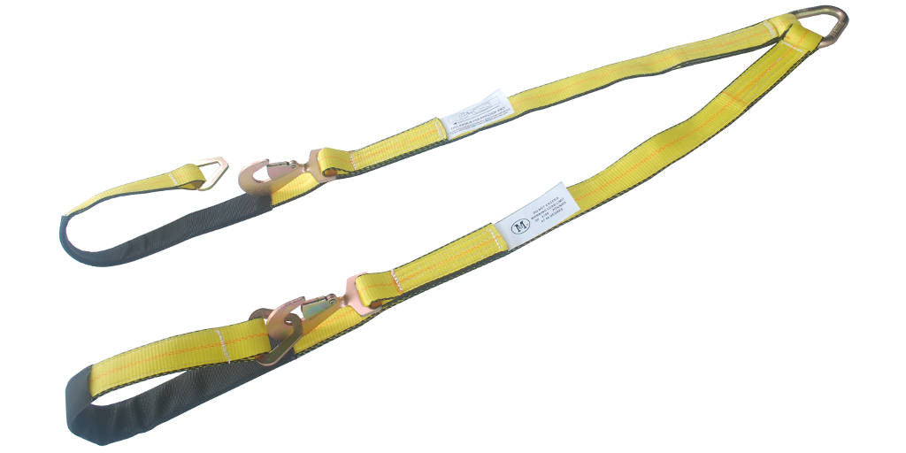 V-Bridle Axle Strap with Snap Hook in Middle