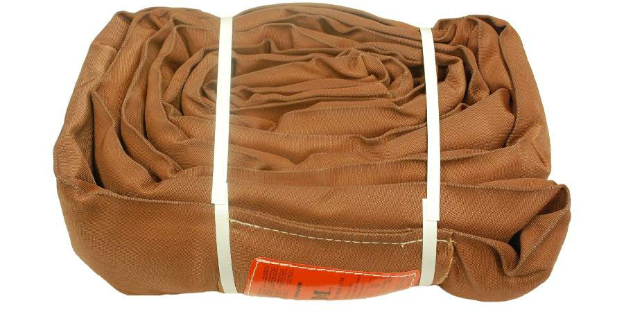 Brown Polyester Round Slings 32,000 LBS