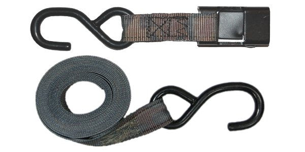 "1"" Camouflage Cam Buckle Strap Tie Down S Hooks"