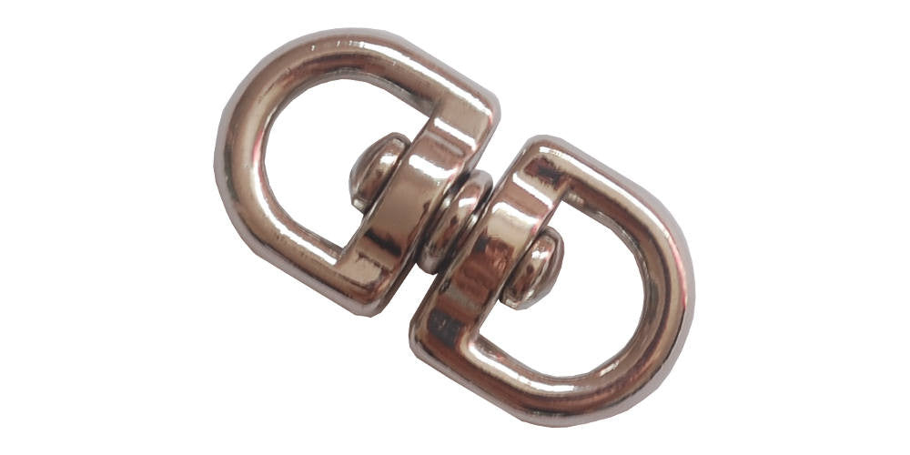 Round Double Swivel 3/8'' Nickel Plated