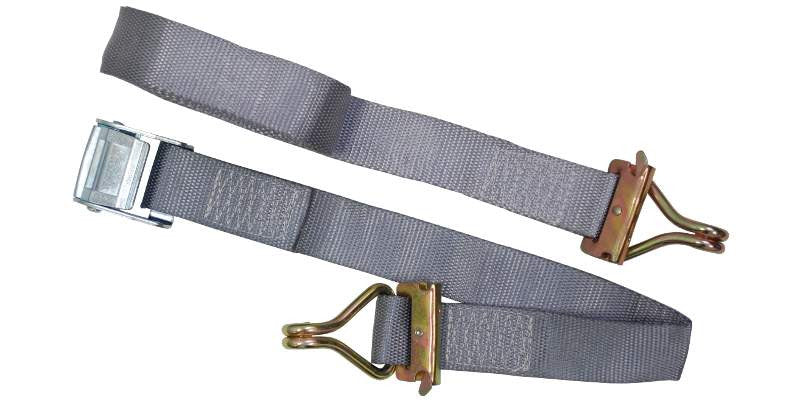 "2""x16' E Track Strap Cam Buckle with Wire Hooks"