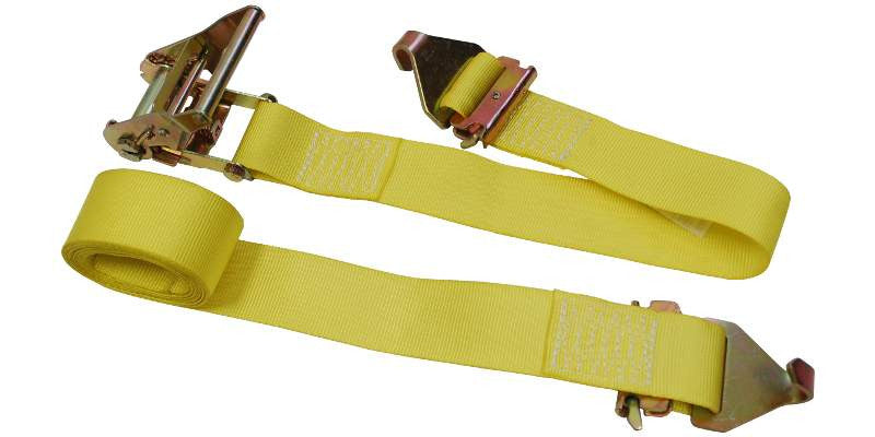 "2""x12' Ratchet E Track Straps E Fitting with F Hook"