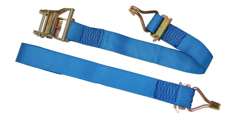"2""x20' Ratchet E Track Strap with Wire Hooks"