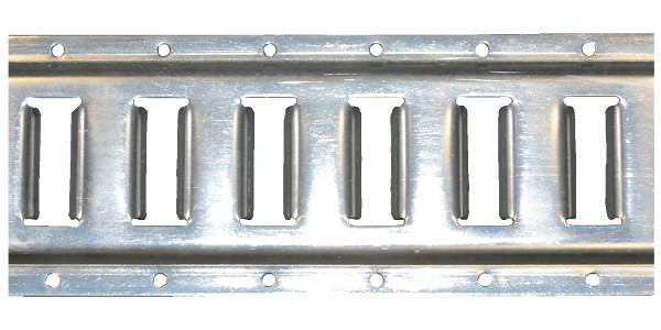 2ft E-Track Horizontal Galvanized