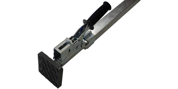 Steel Jack Bar Load Lock Heavy Duty 86''-114'' with Rubber Feet