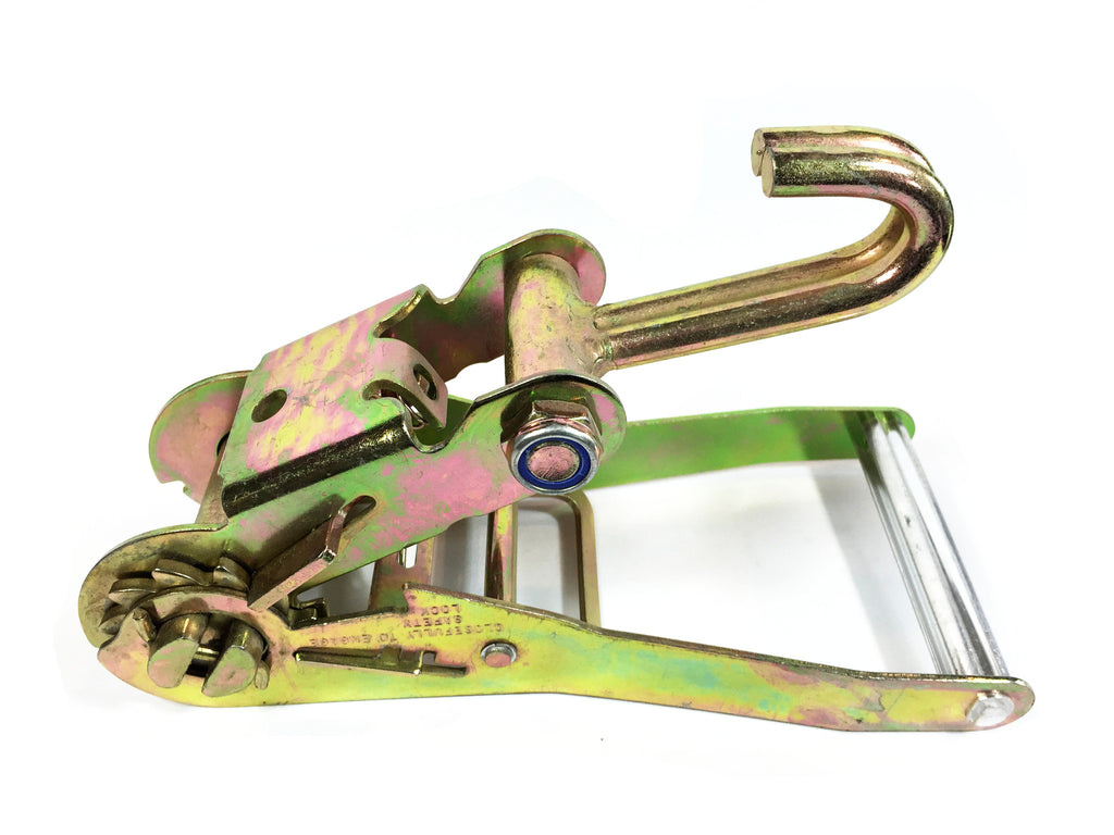 2'' Long Wide Ratchet Buckle with Double Finger Hook