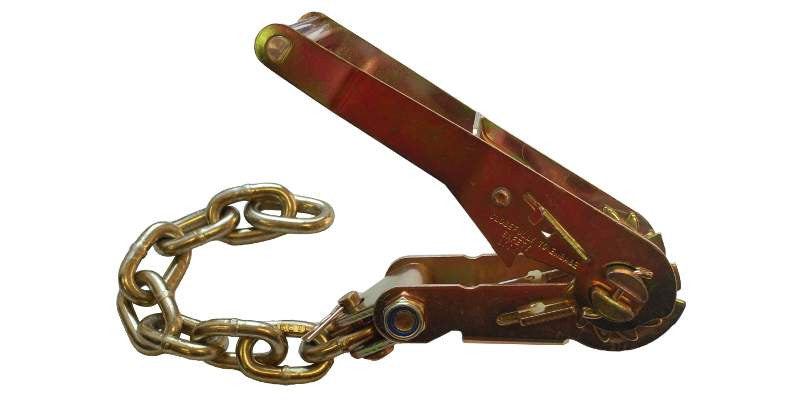 2'' Long Wide Ratchet Buckle with 13'' Chain End