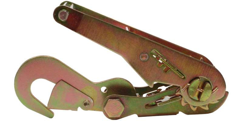 2'' Long Wide Ratchet Buckle with Flat Snap Hook