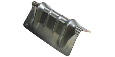 "8"" Grooved Steel Corner Protector for Webbing & Chain"