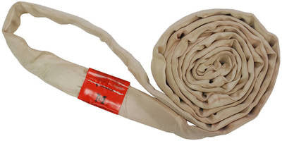 Tan Polyester Round Slings 12,000 LBS
