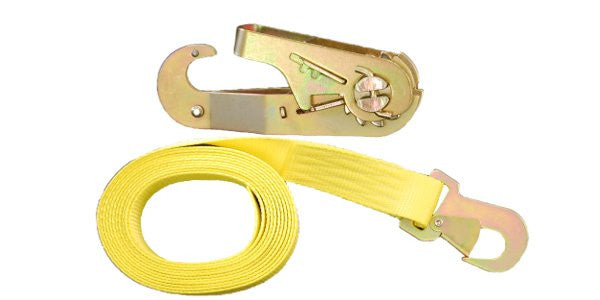 "1-3/4""x15' Tie Down Straps w/ Flat Snap Hook"