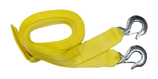2'' Tow Strap with Safety Slip Hooks Heavy Duty