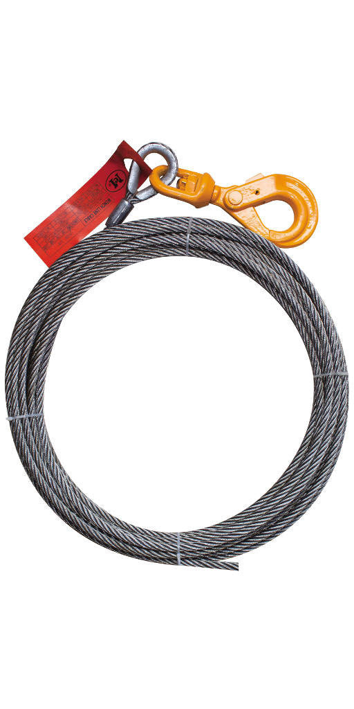 3/8'' x 50FT Fiber Core Winch Cable with Self Locking Swivel Hook - Free Shipping