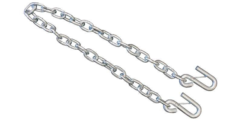1/4'' x 48'' Class 3 Trailer Chain with Latch - Sold in PAIR
