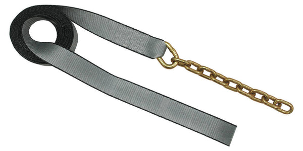"2"" x 18' Tow Strap with Chain Extension"