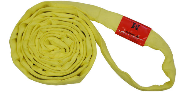 Yellow Polyester Round Slings 9,000 LBS