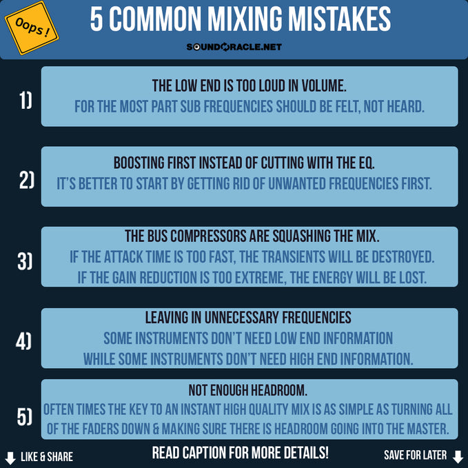 5 Common Mixing Mistakes