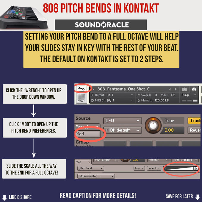 808 Pitch Bends in Kontakt