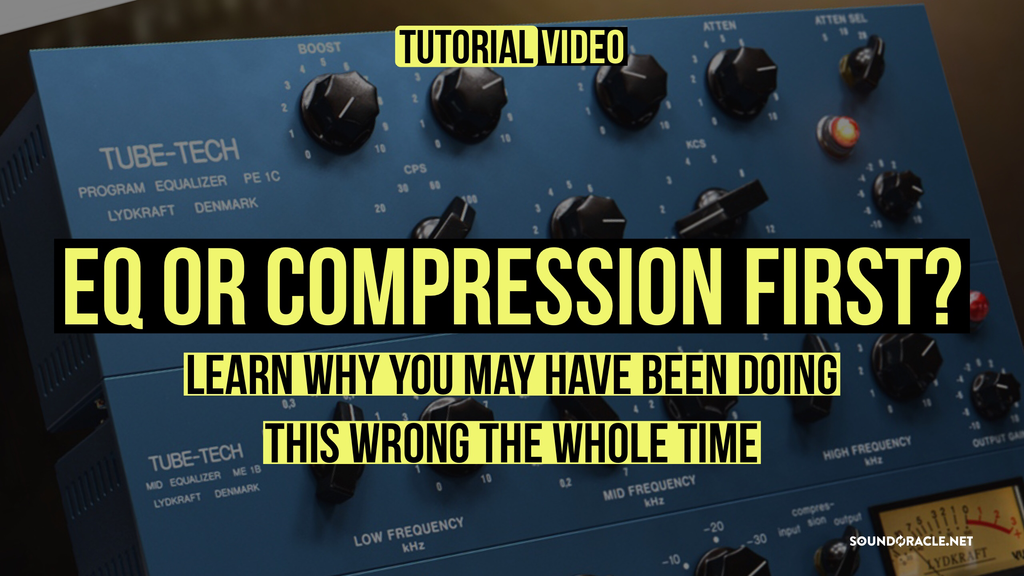 EQ or Compression?, EQ before the compressor, EQ after the compressor, Effects of EQ or compression first, Should I EQ first or compress first?, Compression VS Equalization, Compression VS Equalization, EQ Before Compressor or Compressor Before EQ?, EQ Be