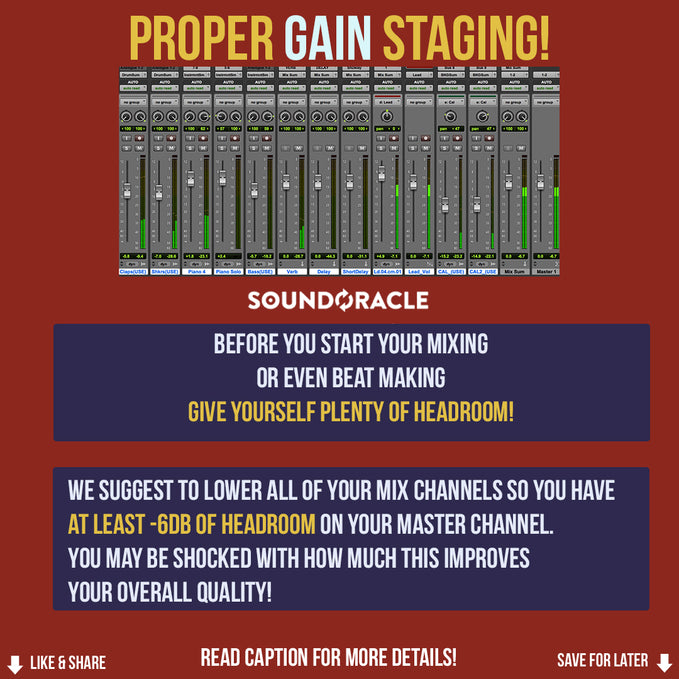 Proper Gain Staging!