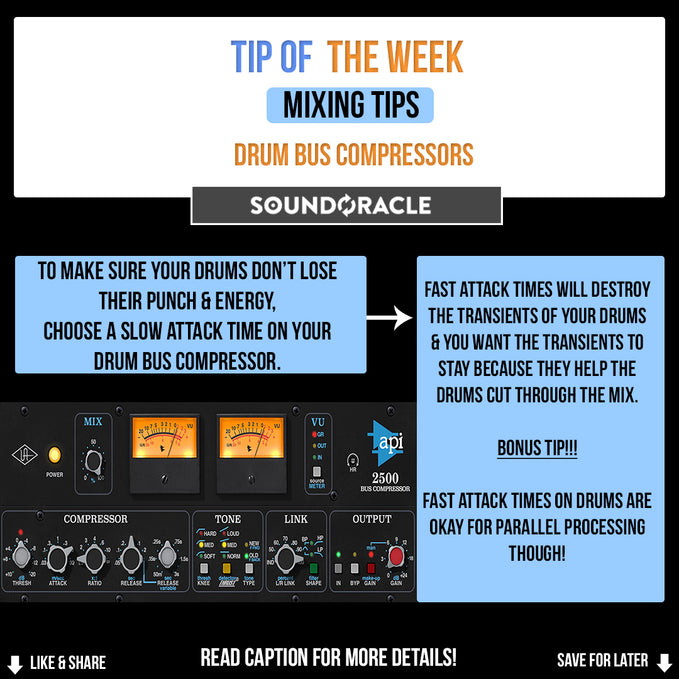 Drum Bus Compressors: Mixing Tips