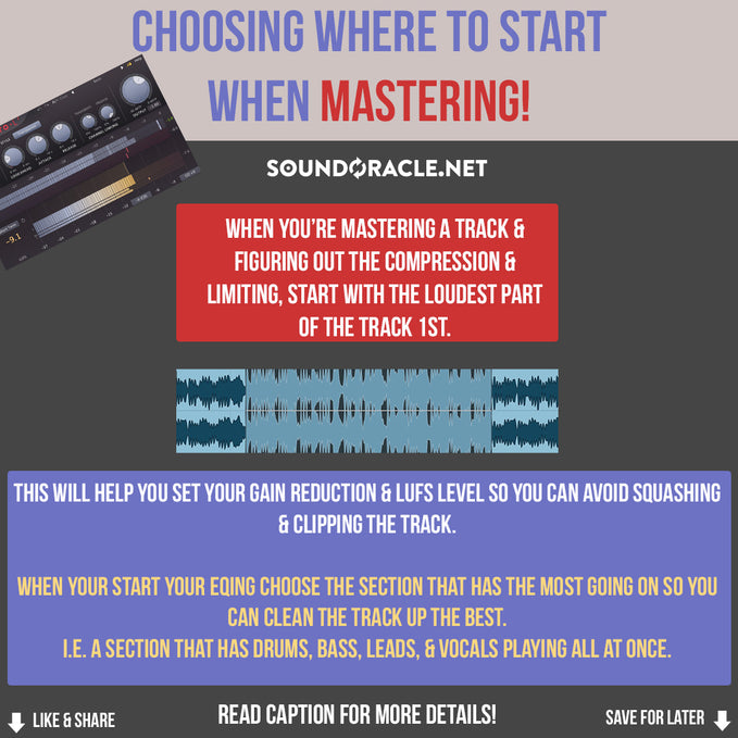Choosing Where To Start When Mastering!