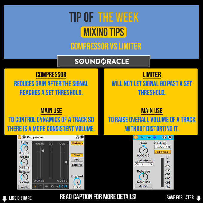 Compressor Vs Limiter: Production Quick Tip of the Week #50