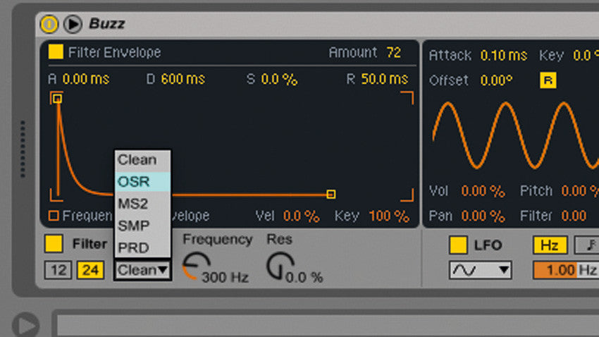 How to make a punchy bass with Ableton Simpler's new filter modes