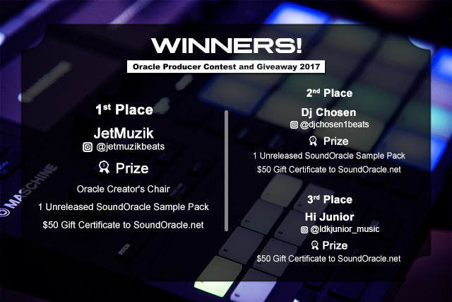 Winners – Oracle Producer Contest and Giveaway 2017