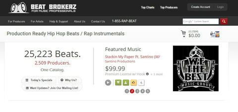 BeatBrokerz.com  - The Top 10 Websites To Sell Your Beats Online - Sound Oracle