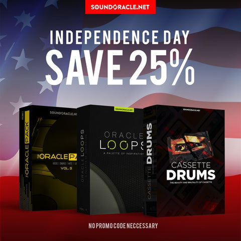 Entire Website 25% 4th of July Sale including Cassette Drums