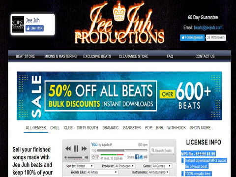 JeeJuh.com  - The Top 10 Websites To Sell Your Beats Online - Sound Oracle