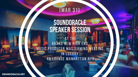 at the Brand New High End Music Producer Mastermind Meeting in Luxury 48 Lounge Manhattan NYC