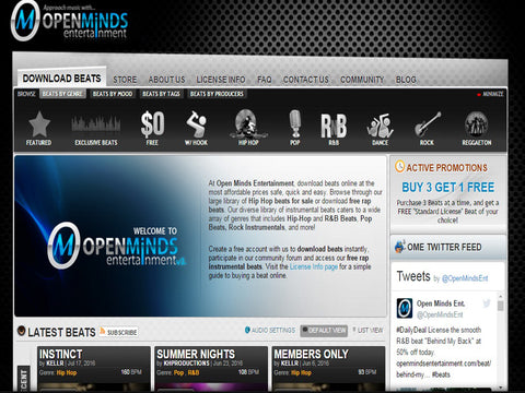 Openmindsentertainment.com  - The Top 10 Websites To Sell Your Beats Online - Sound Oracle