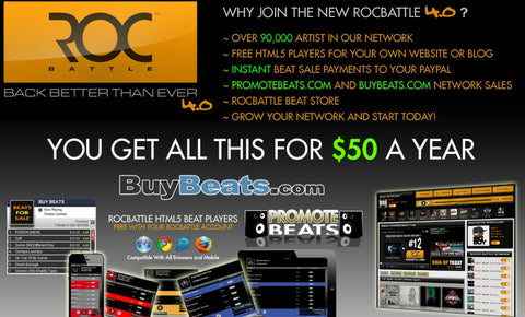 Rocbattle.com  - The Top 10 Websites To Sell Your Beats Online - Sound Oracle