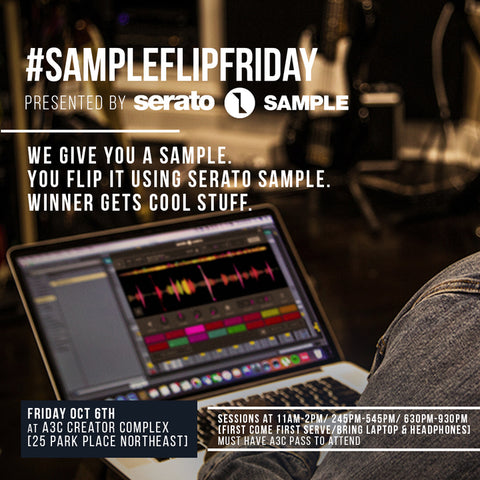 Friday Oct 6th: Judge at Serato Sample Flip Contest at AC3 Festival 2017
