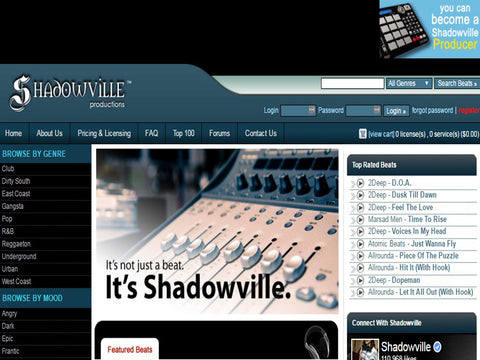 Shadowville.com  - The Top 10 Websites To Sell Your Beats Online - Sound Oracle